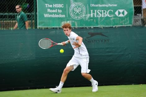James Davis boys' singles champion